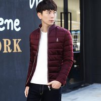 Wholesale Amos E family winter cotton padded clothes men burst solid collar cotton male wrapping thickened Mianfu cotton padded jacket
