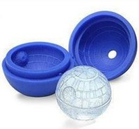 Wholesale Star Wars silicone Death Star Ice Sphere Mold Silicone Ice Cube blue Star wars ice mould