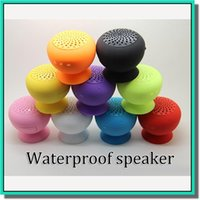 Wholesale 9 colors Wireless Bluetooth Mini Speaker Mushroom Waterproof Silicon Suction Cup Holder for Iphone s c DHL