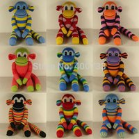 sock monkey - Christmas New Year Gifts handmade DIY stuffed sock animals doll baby toys Traditional Monkey Styles