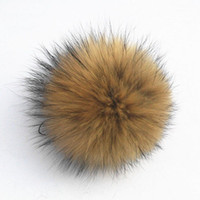 Natural color shoes hats caps - cm real raccoon fur pom poms ball fur hat winter hats for shoes fur cap accessories