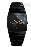 Wholesale luxury quartz watches diastar ceramic black dial mens dive watches RA38