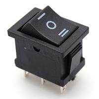Wholesale New HOT SALE Plastic Metal DPDT Rocker Switch ON OFF ON Terminals Position Snap In Boat A V A V AC