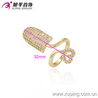 copper nail - Women Personalize K Gold Plated Finger Nail Rings Cublic Zirconia Copper Jewelry Ring Xuping Environmental Copper Jewelry Ring