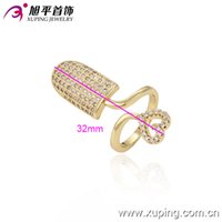 copper nail - Xuping Women s Personalize K Gold Plated Nail Rings New Arrvial Jewelry Ring Environmental Copper With White Synthetic CZ