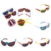 eye glasses - Hot sale brand new Kids Folding Sunglasses Cute Cartoon Beetles Eye Glasses Kids Summer Sunglasses