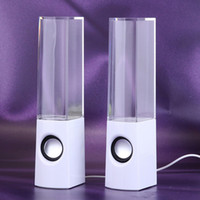 battery fountains - Portable Dancing Water Fountain Speaker Mini USB Flash Card Built in Battery Led Light Soundbox Music Player for Mobile Tablet PC MP3 PSP