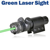 Wholesale New Tactical Outside Green Red Dot Laser Sight Adjustable Switch Rifle Scope With Rail Mount for Hunting Gun