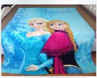 Wholesale 150 cm Large size Frozen Elsa Raschel Blanket frozen Dairy queen elsa adventures Frozen anime raschel blankets NEW HOT IN STOCK pc