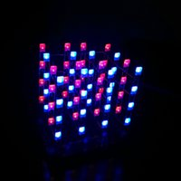 Wholesale 3D LED Light Squared New Blue Red Ray LED Cube DIY PCB Board Kit Set