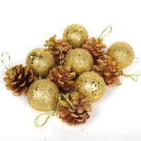 pine cones - 2015 New Arrival Christmas gift Hot Sale cm gold silver pine cone Christmas decorations for christmas tree g