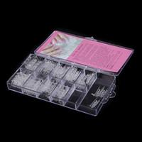 acrylic glass mold - New Arrivial Acrylic False Nails set Dual Form Nail System for UV GEL Glass Nail Art Mold Tips Decoration
