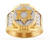 Cheap Men's 316L Stainless Steel Cut Out Star Of David Ring Bling ring with high quality,gold and silver