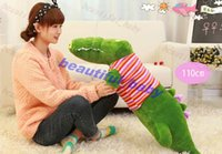 alligator stuffed toy - big lovely plush green crocodile with stripe cloth toy stuffed Chinese alligator pillow birthday gift about cm