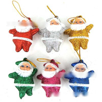 snowman decoration - Hot Sell Christmas Tree Little Colorful Snowman Decoration Lovely Bling Bling Santa Claus Hangings Western Festival Home Decorations H2956
