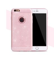 apple packing material - Soft Bling Glitter Bling Shining Shell Cover For SamsungS6 S6edge Iphone plus S Ultrathin TPU Material Cases Opp Packing Colors