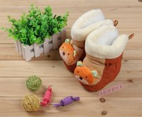 Wholesale PU new winter boots cotton bottom thickening baby soft bottom shoes super warm high boots shoes for infants aged