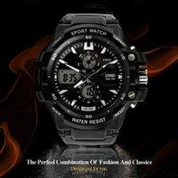 Wholesale Skmei Sport Mens Watches Top Brand Luxury Men Fashion Casual LED Quartz Military Digital Watch Male noctilucent Wristwatches