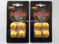 Wholesale 2 sets new arrive high quality novelty smile car wheel tire valve cap lister card package retail price