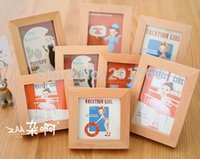 small picture frame - Modern girl Delicate and creative desktop woodiness adornment picture frame picture frame large and small