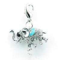 elephant charms - Brand New Fashion Charms Five Color Rhinestone Enamel Elephant Lobster Clasp Animal DIY Pendants Jewelry Accessories