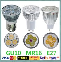 Wholesale Retails High power CREE Led Lamp Bulbs W W W Dimmable GU10 MR16 E27 B22 spot Lights Spotlight downlight