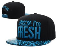 Wholesale New Sorry I M fresh and you re not Snapback caps leopard hats blue pink red men women designer strapback hat Freeshipping