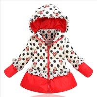 Wholesale children clothing autumn winter Minnie Mouse girls flower buds down jacket baby windproof cotton jacket coat kids outerwear vestido
