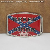 Wholesale REBEL PRIDE Belt Buckle Rebel Flag confederate flag belt buckle southern battle flag belt buckle