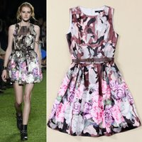 spring 2015 womens camouflage floral print dresses o neck sleeveless