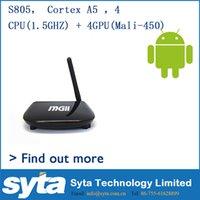 Wholesale High Definition Smart Set TV Box DDR3 G G Flash Support Bluetooth WiFi b g n Flash1 Digital Media Player MGII