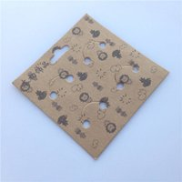 Wholesale Brooch kraft paper card packing card packaging brooch badge jams jewelry boxes