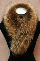 Cheap Special oversized 100% raccoon fur raccoon fur collar raccoon fur collar tops raccoon fur collar wool scarf -1 pcs--wei
