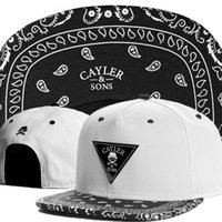 swag hats - Cayler and Sons Snapback Bandana Caps Cap Cayler and Son Swag Bone Strapback Chapeu Baseball caps Hats for Men Women Snapback