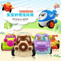 Wholesale Educational toys inertial Q version engineering team of children with inertial toy car racing car digging action
