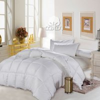 Wholesale Winter pure cotton white duck down comforter set warm and comfy duvet twin full queen king size kgs