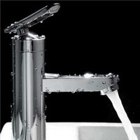 Wholesale Fashion Style High quality Brushed Chrome Waterfall Bathroom Basin Faucet Single Handle Sink Mixer Tapgrifo para lavabo