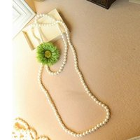 Wholesale Cheap Fashion Bohemian Beaded Necklaces Sexy pearls BOHEMIA JEWELRY Flowers Necklaces Long Spring Summer W6795