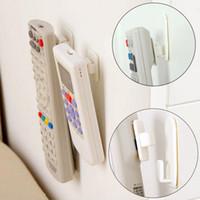 Wholesale 2Set Sticky Hook Set TV Remote Control Key Practical Wall Storage Plastic Hooks Holder Strong Hanger