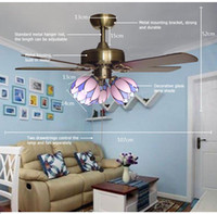 beautiful ceiling fans - lamp base drawstring control ceiling fan light with beautiful lamp shade and quality motor material