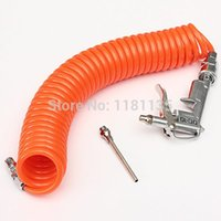air hose blower - Safety Strigger m Air Blow Dust Compressor Blower Spray Gun Tool Recoil Coiled Nozzle Hose inch BSP order lt no track