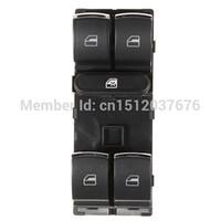 Wholesale High Quality Black Electric Power Window Master Switch for VW Golf Jetta MK5 MK6 Passat CC