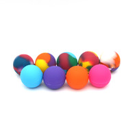 oil color - Fedex Free Silicone Ball Container Nonsolid Color Pure Color Non stick For Wax Bho Oil Vaporizer Silicon Jars Dab Wax Container