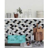 Wholesale Fashion Fan shape glass mosaic tiles for Bathroom bedroom lobby TV background wall tiles