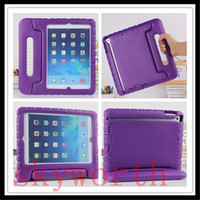 amazon silicon - EVA Handle Children Shockproof Case For ipad pro Samsung Galaxy tab S S2 A T280 T580 Kindle Fire