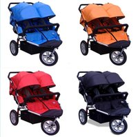 baby jogger wheels - Twin Baby Jogger Stroller Tricycle Wheel Kids Jogger For Twins baby Seat