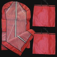 Wholesale 2015 Cheap Red Folding Portable Wedding Dresses Cover Dust Proof Dress cm Garment Bags