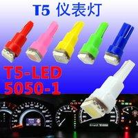 Wholesale 100pcs Good Quality Car Interior LED Dashboard light T5 SMD led