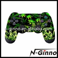 Cheap Free Shipping 50 PCS Lot High Quality PS4 Controller Cover Skin Stickers For Sony PS4 Decal Game Accessories
