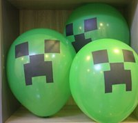 Wholesale Minecraft Balloon Creeper Balloon inch Party Must Haves Party material cartoon balloon